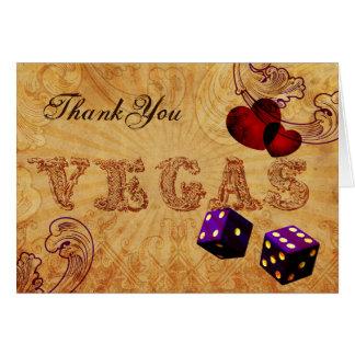 Carte Merci vintage de Vegas de matrices pourpres
