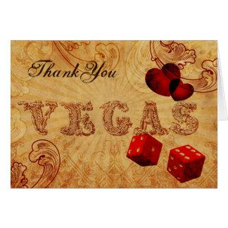 Carte Merci vintage de Vegas de matrices rouges