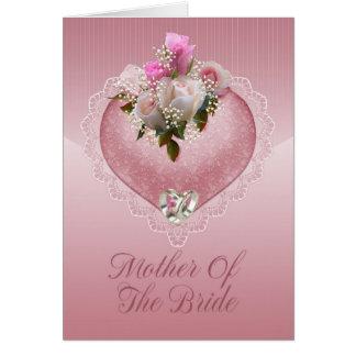 Carte Mère des félicitations de jeune mariée - mère de