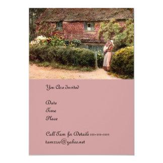 Carte Mère et enfant roses de cottage