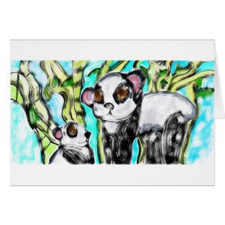 Carte Mère et petit animal de panda