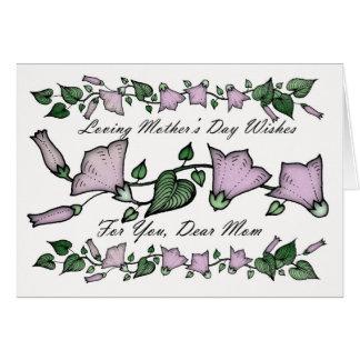 Carte Mère, fleurs du jour de mère