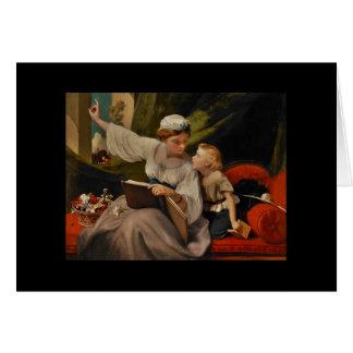 Carte Mère lisant un conte de fées