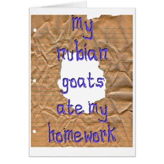 Carte Mes chèvres de Nubian ont mangé mon travail