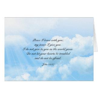 Carte Message chrétien de sympathie de ciel bleu de