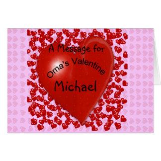 Carte Message de Valentine d'Oma