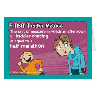 Carte métrique d'enfant en bas âge de Fitbit