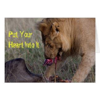 Carte Mettez votre coeur dans lui