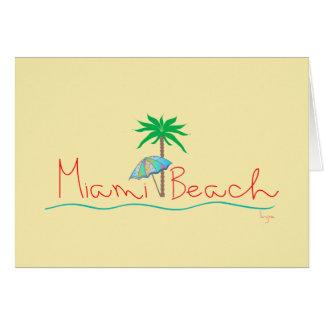 Carte Miami avec la paume et le parapluie