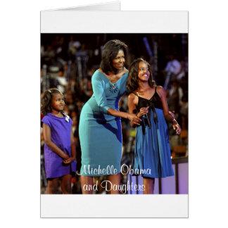 Carte Michelle Obama et filles