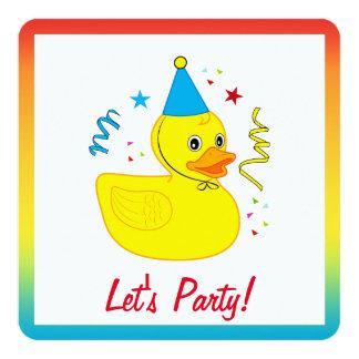 Carte Mignon en caoutchouc avec la fête d'anniversaire