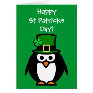 Carte mignonne de Jour de la Saint Patrick avec le