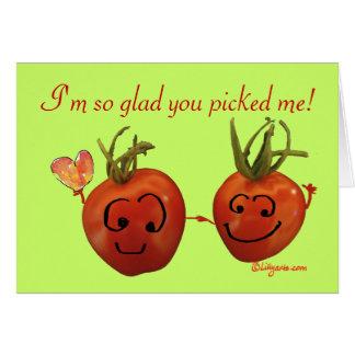 Carte mignonne de Valentine - tomates cerise
