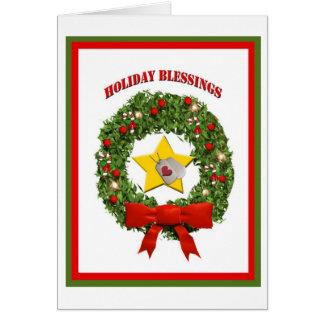 Carte militaire de bénédictions de vacances de