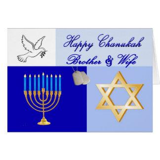 Carte militaire de frère et d'épouse de Chanukah