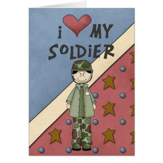 Carte militaire de soldat d'homme d'armée de