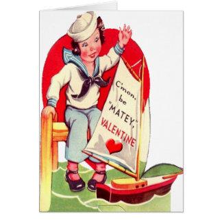 Carte militaire de Valentine de garçon de marin de