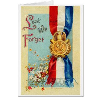 Carte militaire patriotique américaine vintage
