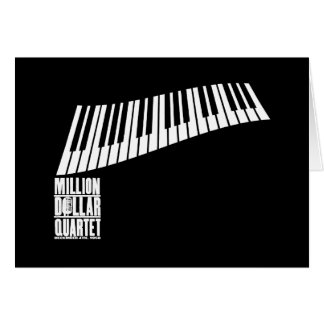 Carte Million de piano de quartet du dollar - blanc