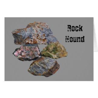 Carte minérale de collecteurs de chien de roche