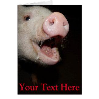 Carte Mini porc personnalisé de chant