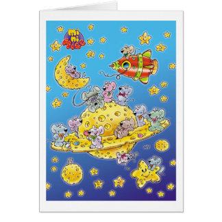 Carte Mini souris perdues dans l'espace