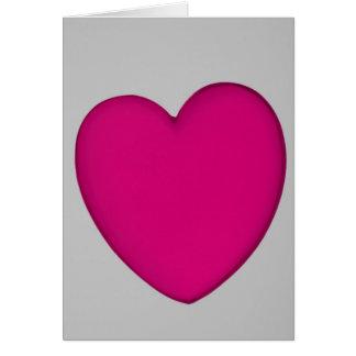 Carte Miniature acrylique de forme de coeur