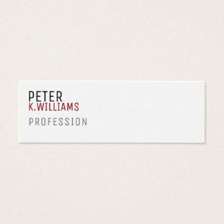 carte minimaliste de profil pour toute profession