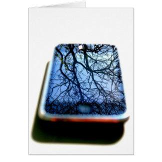 Carte miroir d'iphone