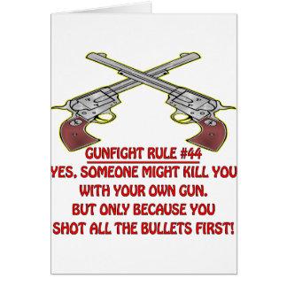 Carte Mise à mort de la règle #44 de combat d'armes à