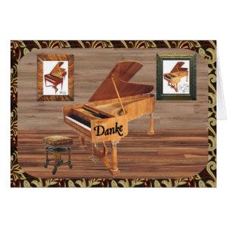 Carte MIT Klavier de Danke