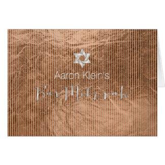 Carte Mitzvah de barre de photo de chevron de
