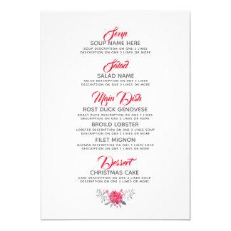 Carte Modèle de menu de wagon-restaurant de typographie