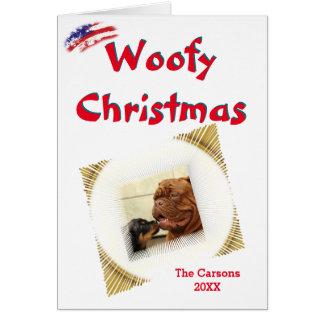 Carte Modèle photo de vignette des Etats-Unis de Noël de