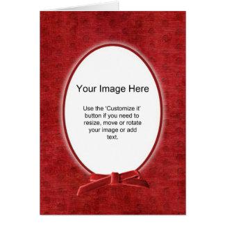 Carte Modèle photo ovale - Chenille rouge - masquez à