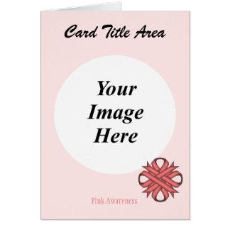 Carte Modèle rose de ruban de trèfle