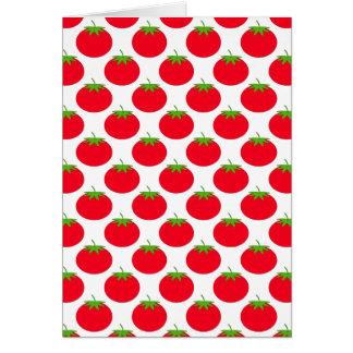 Carte Modèle rouge de tomate