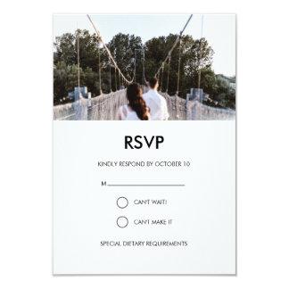 Carte moderne de la photo RSVP de mariage