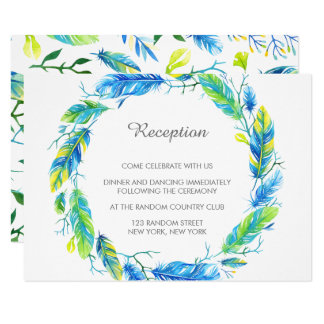 Carte moderne lumineuse de réception de mariage de carton d'invitation 8,89 cm x 12,70 cm