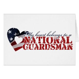 Carte Mon coeur appartient à un garde national