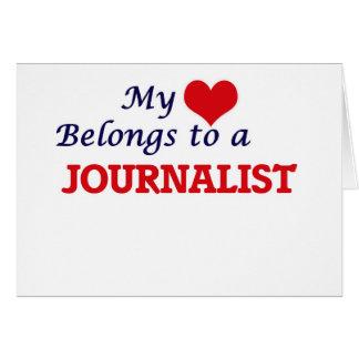 Carte Mon coeur appartient à un journaliste