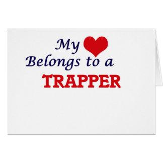 Carte Mon coeur appartient à un trappeur