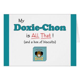 Carte Mon Doxie-Chon est tout cela !