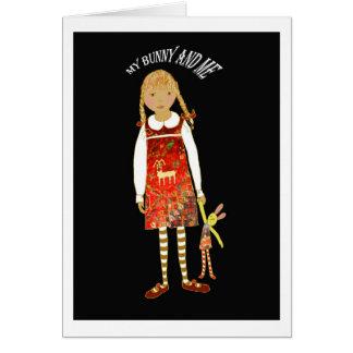 """Carte """"Mon lapin et moi """""""