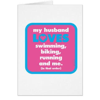 Carte Mon mari aime des triathlons