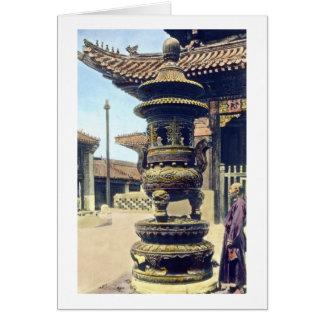 Carte Monastère japonais vintage