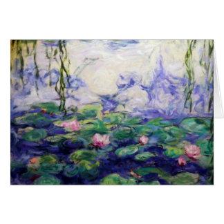 Carte Monet a inspiré des nénuphars