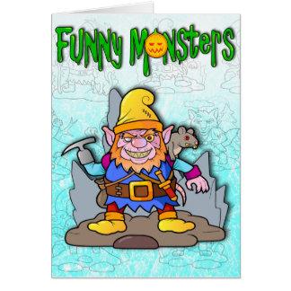Carte monstres drôles