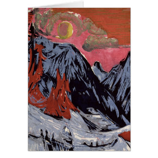 Carte Montagnes en Winter, 1919