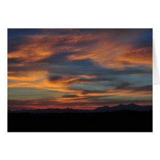 Carte Montagnes olympiques au coucher du soleil